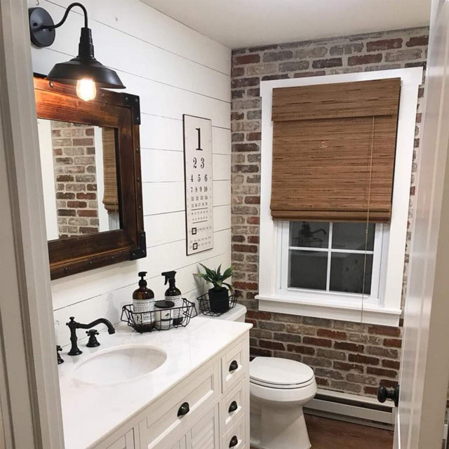 modern farmhouse bathroom modern