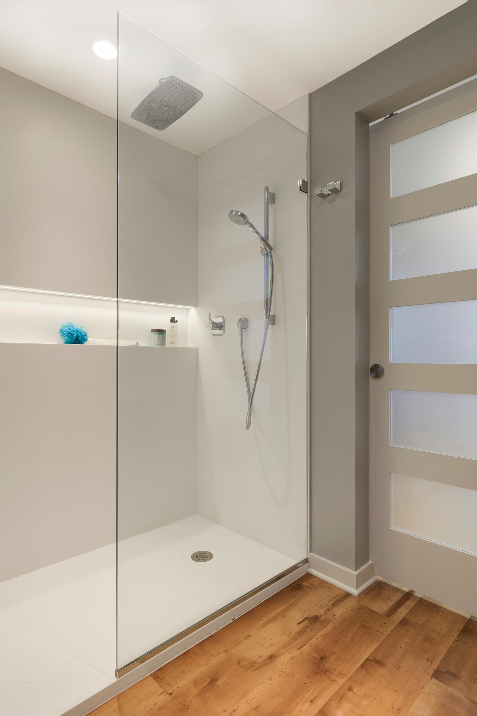 75 beautiful vinyl floor walk in shower