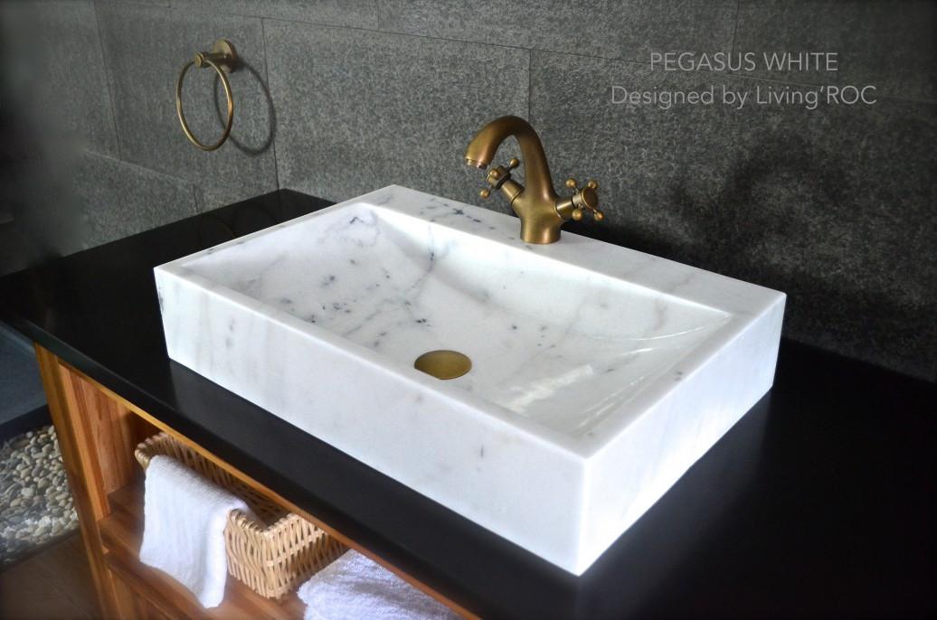 pegasus white 23 x15 x4 white marble