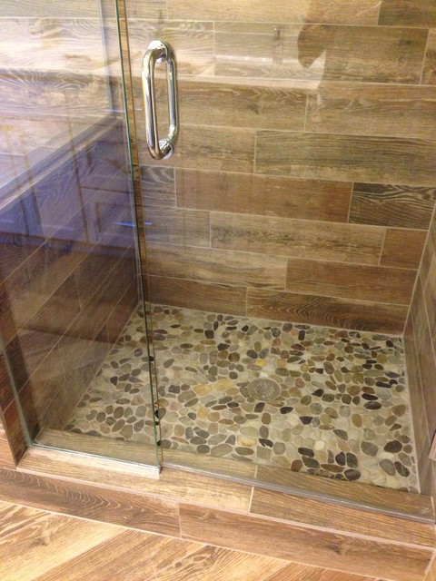 shower remodel natural look with