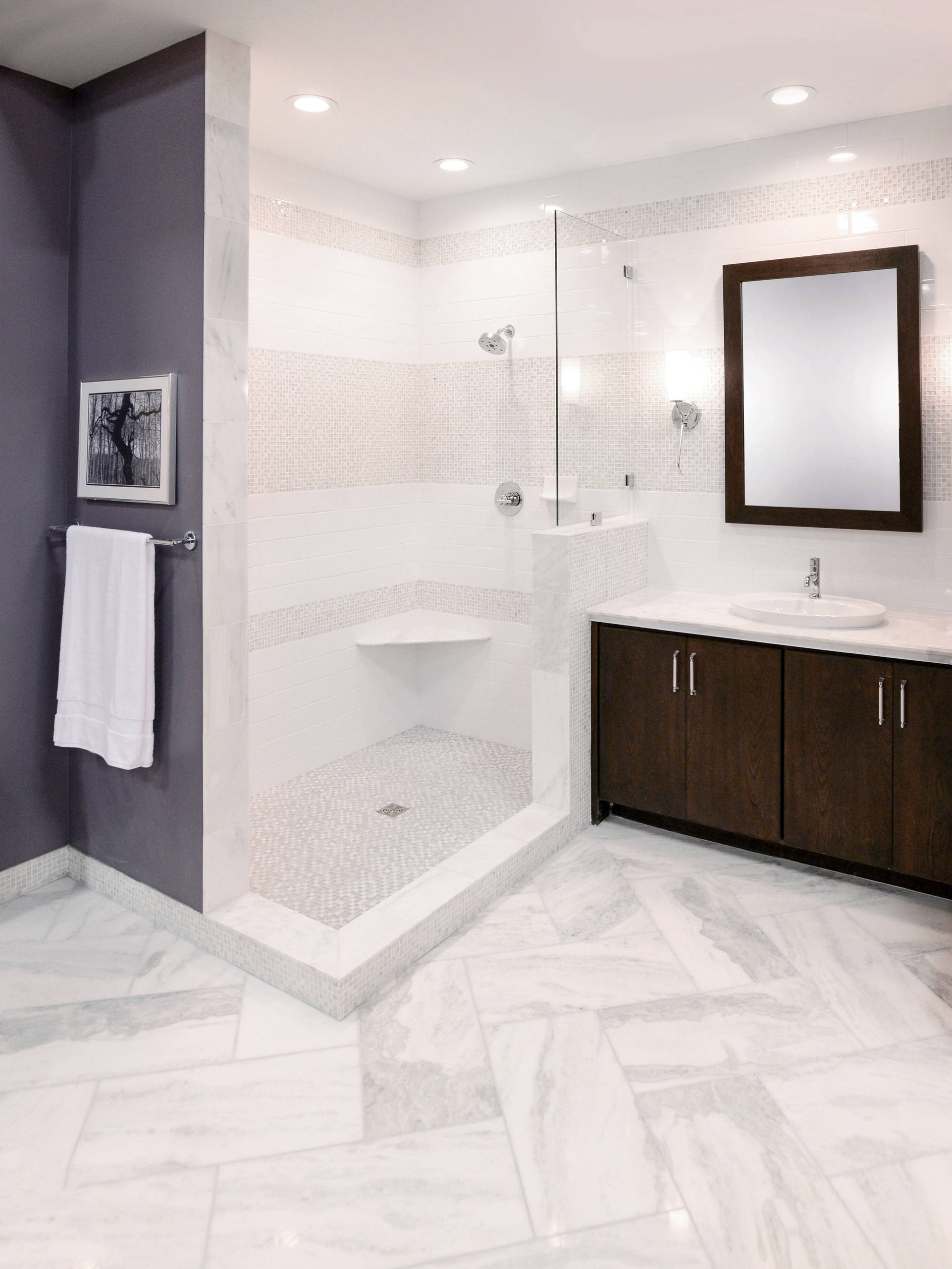 marble tile accents houzz