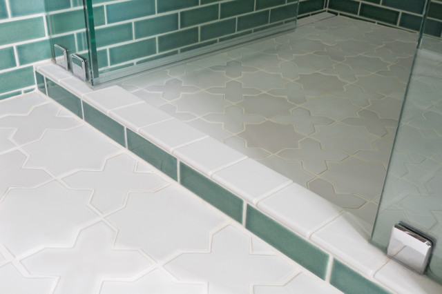 the star and cross tile floor in our