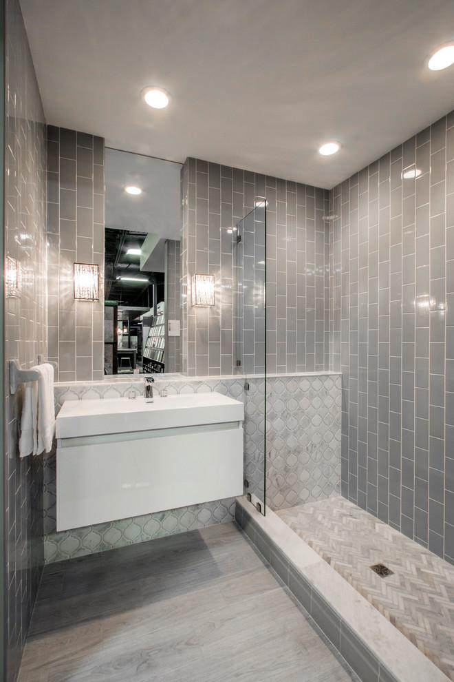chic gray bathroom shabby chic