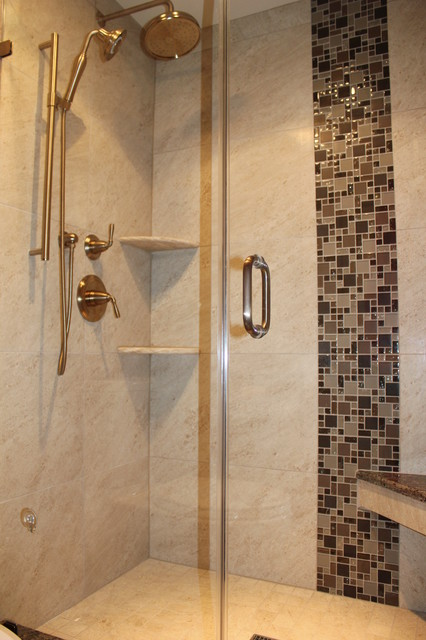 verticle shower accent tile