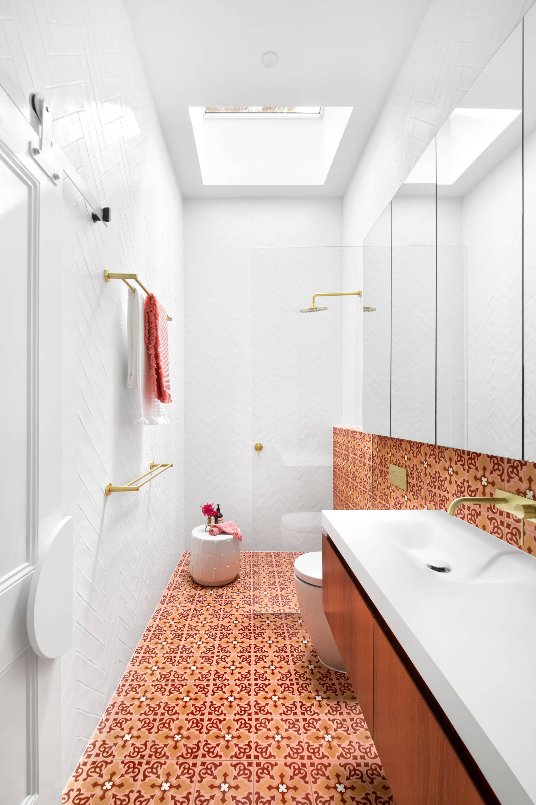orange tile bathroom pictures ideas