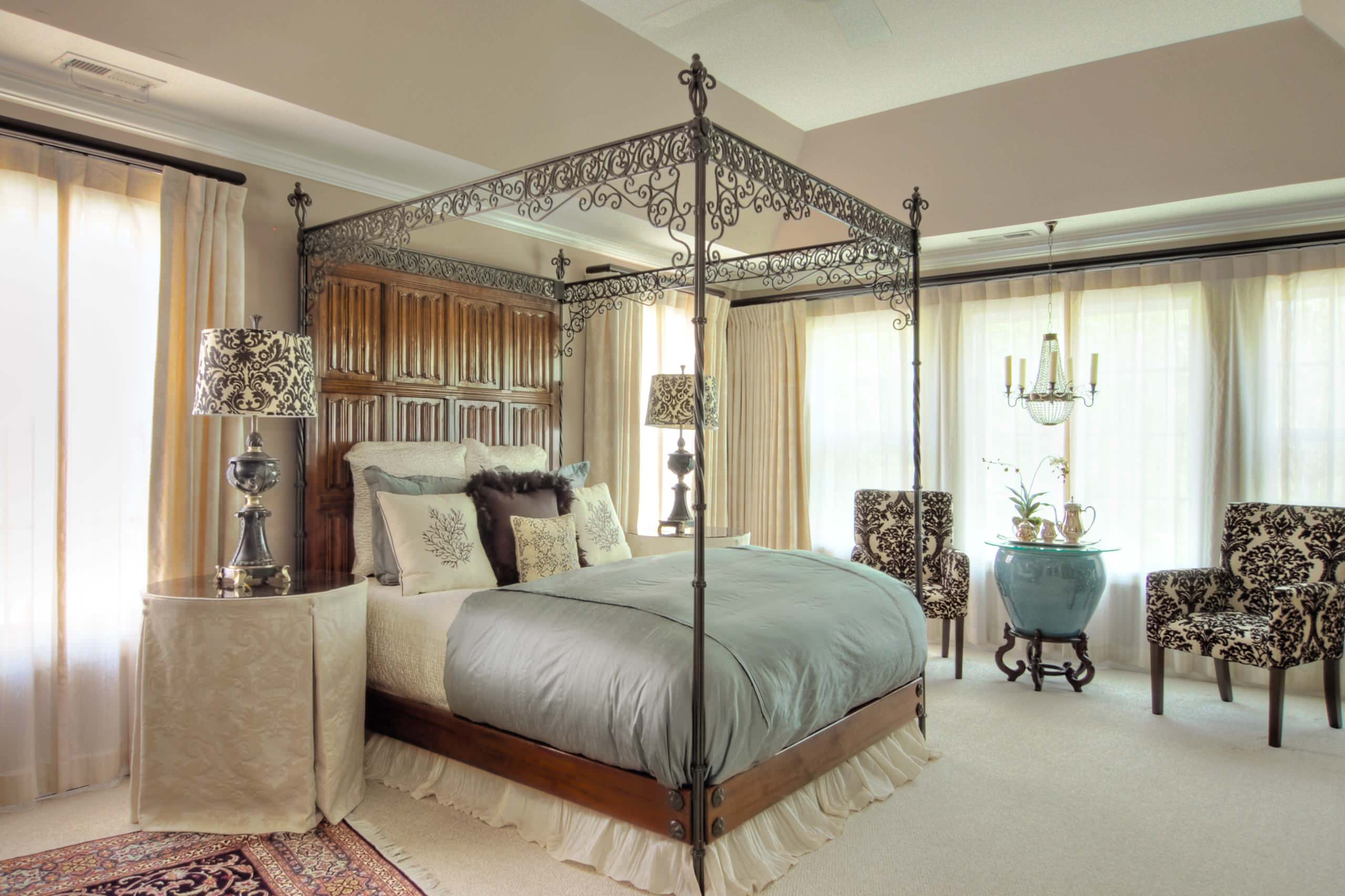 wrought iron four poster bed houzz