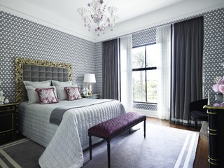 Purple And Grey Bedroom Ideas And Photos Houzz
