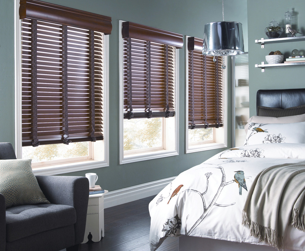 Horizontal Wood Blinds For The Bedroom Contemporary Bedroom Orange County By Budget Blinds Houzz