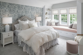 grey and pink bedroom ideas and photos