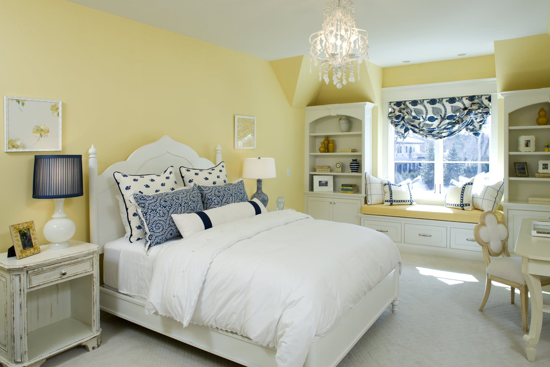 Blue And Yellow Bedroom Ideas And Photos Houzz