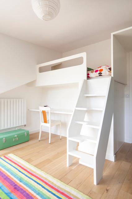 chambre enfant escalier compact pas