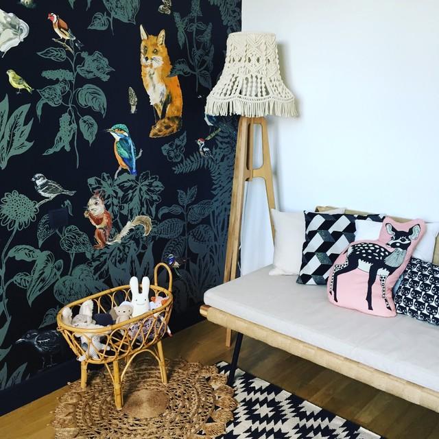chambre bebe mixte arty et vintage