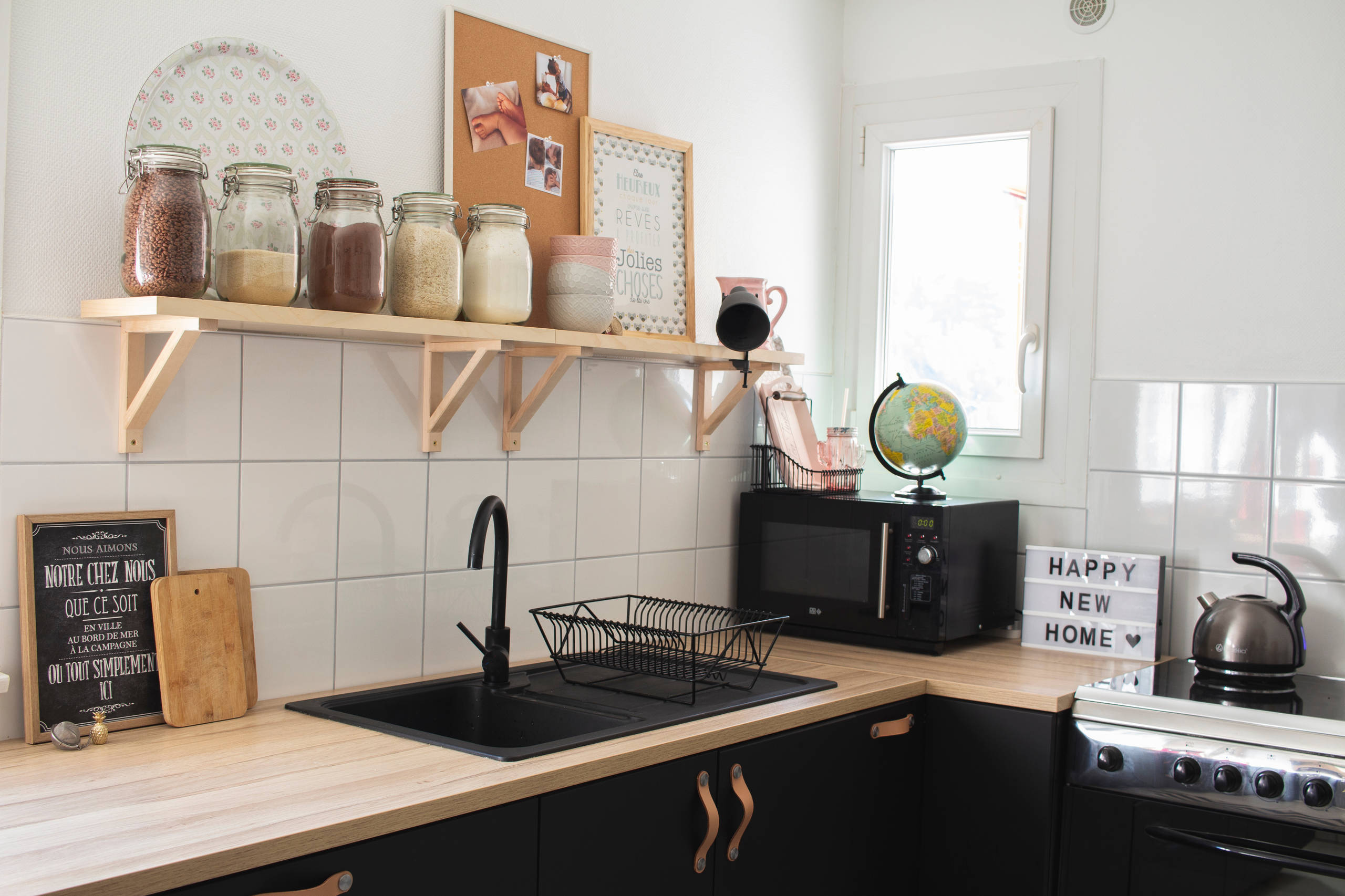 Cuisine Ikea Noire Et Bois Industrial Kitchen Strasbourg By Oh Ma Deco Houzz