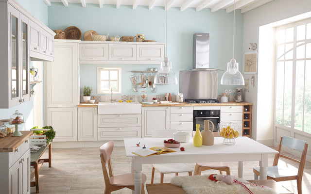 Cuisines Shabby Chic Style Kitchen Lille By Leroy Merlin Officiel Houzz