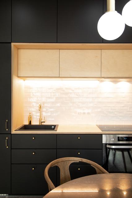 pimenter une cuisine noire et blanche