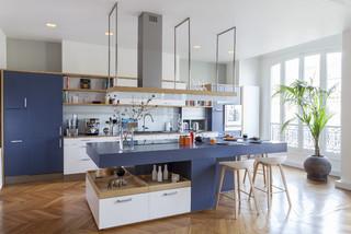 cuisine contemporaine blanche photos