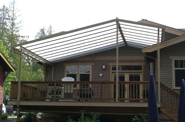 custom gable patio cover on craftsman