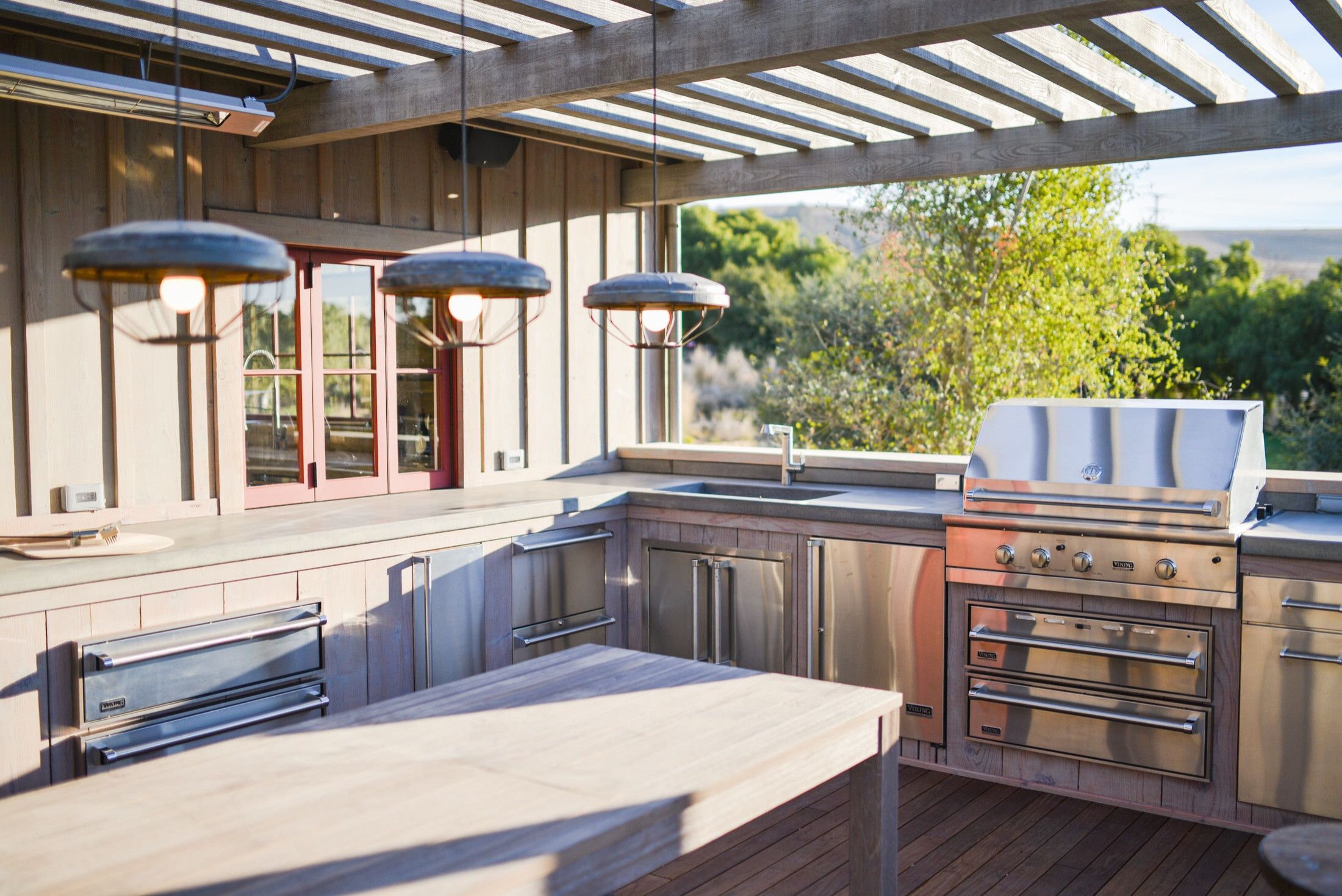 outdoor kitchen sink houzz