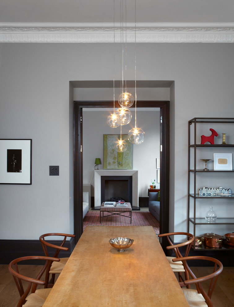 notting hill flat modern dining
