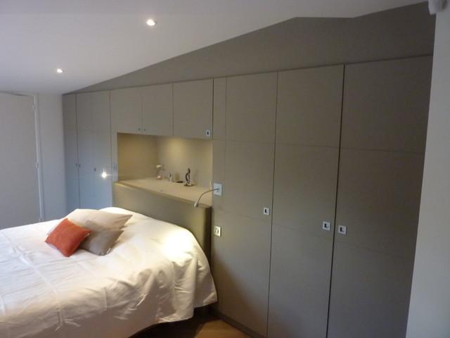 dressing chambre avec tete de lit