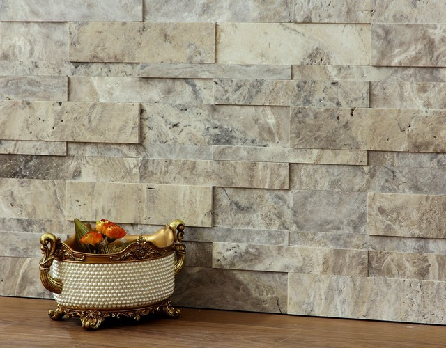 3d natural stone wall cladding silver