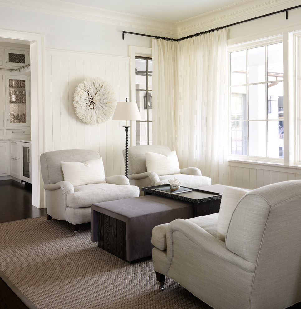 transitional family room chicago