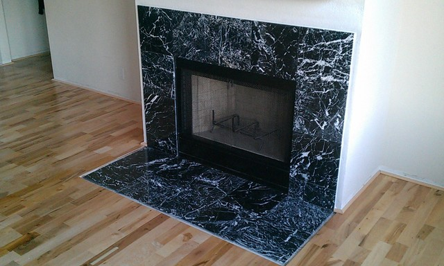 fireplace marble tile contemporary