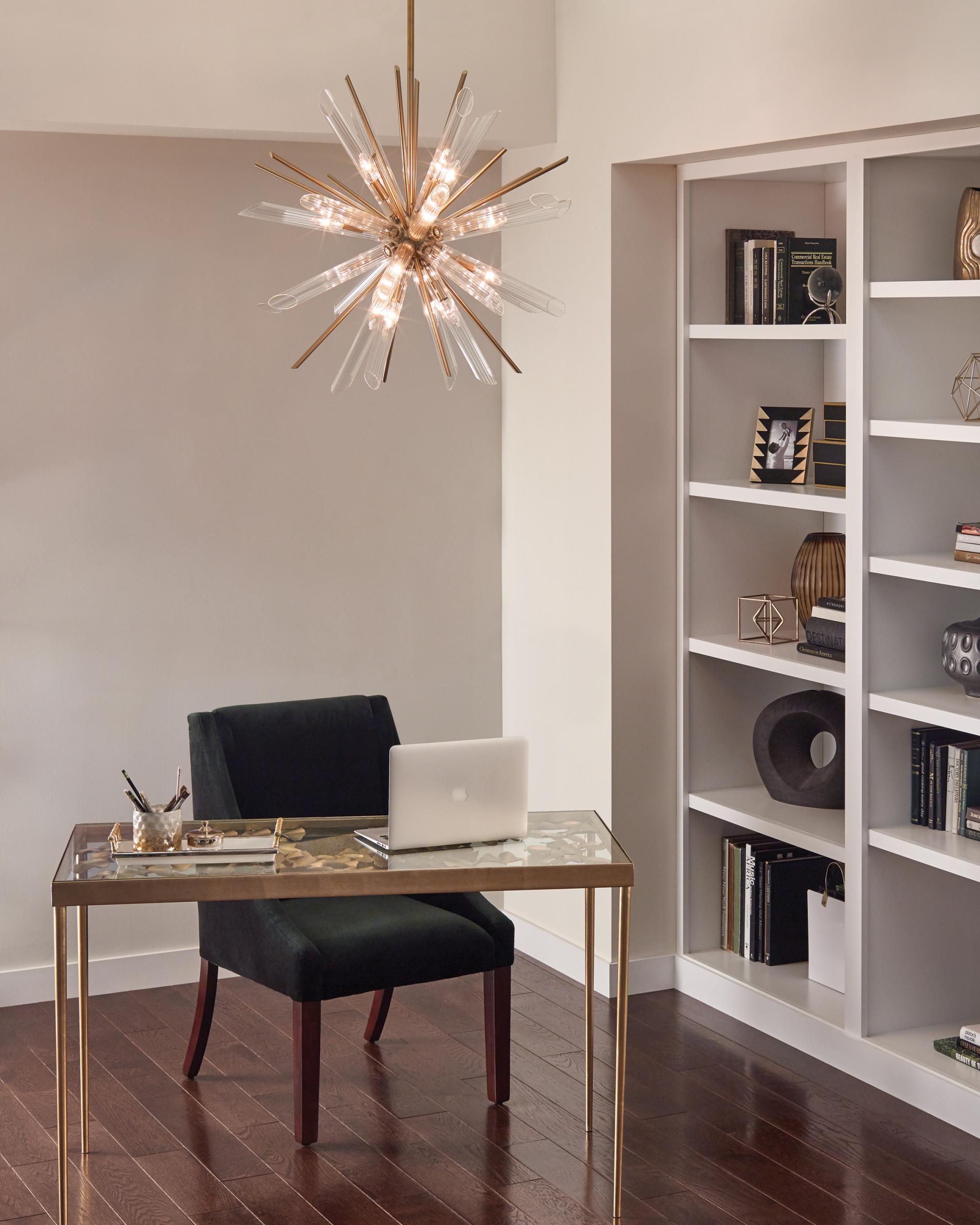 overhead lighting home office ideas
