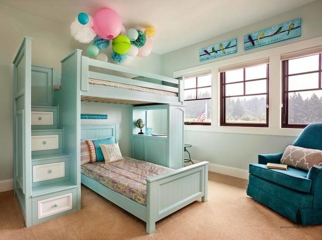 custom made bunk beds transitional