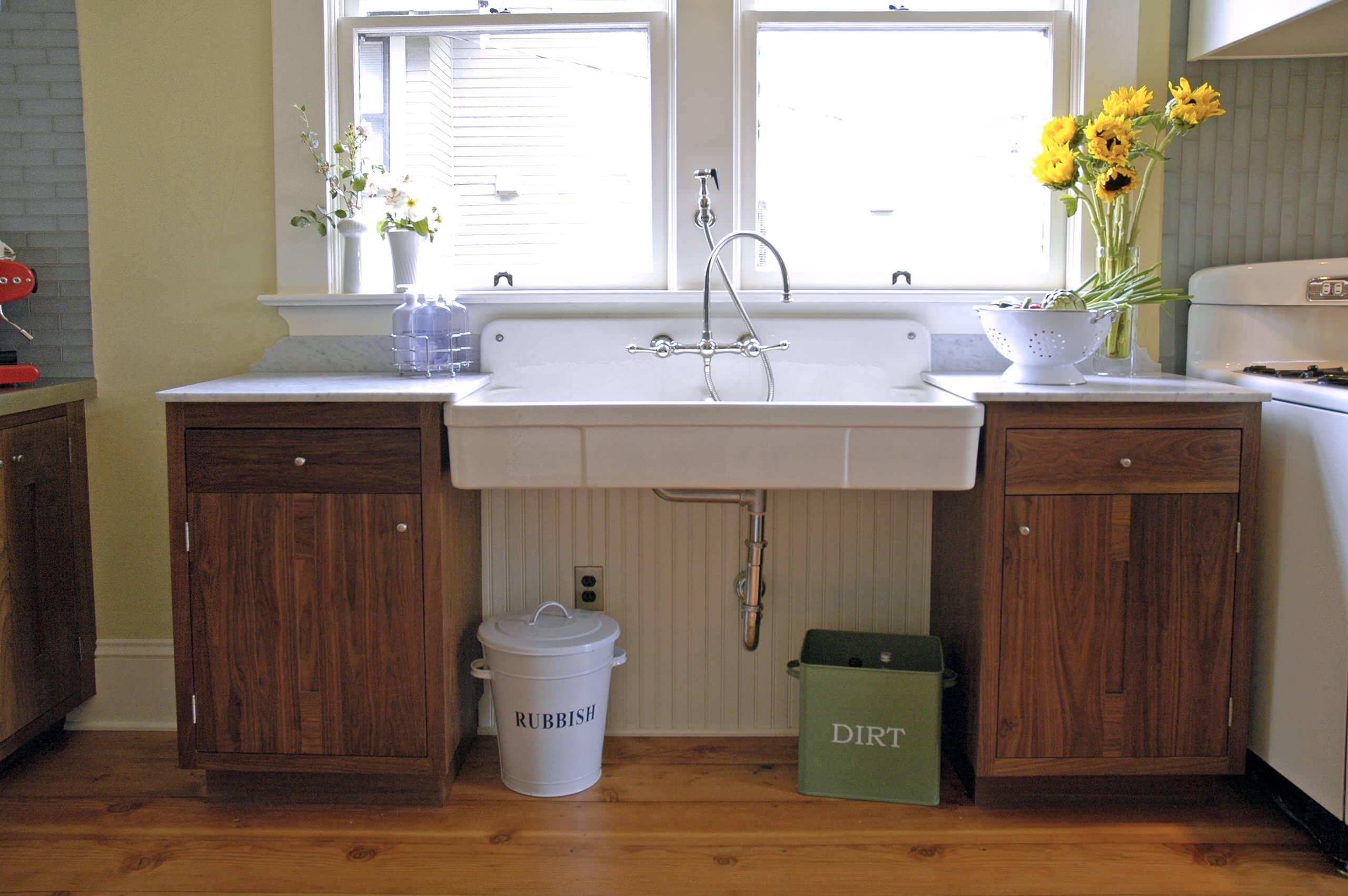 freestanding sink kitchen ideas