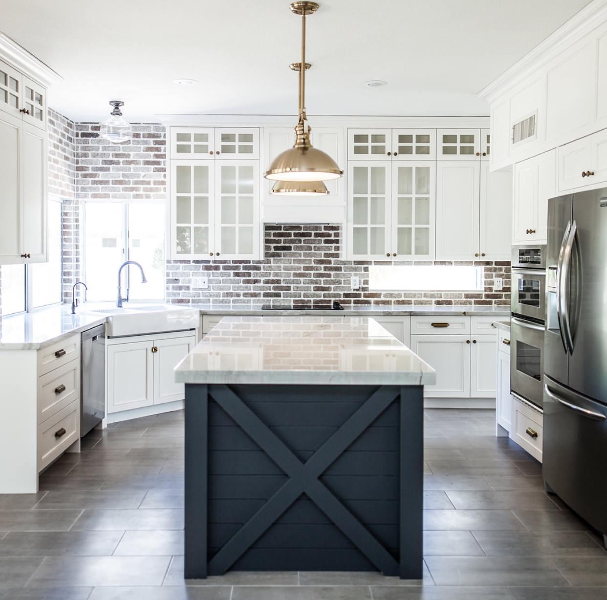 farmhouse ceramic tile kitchen