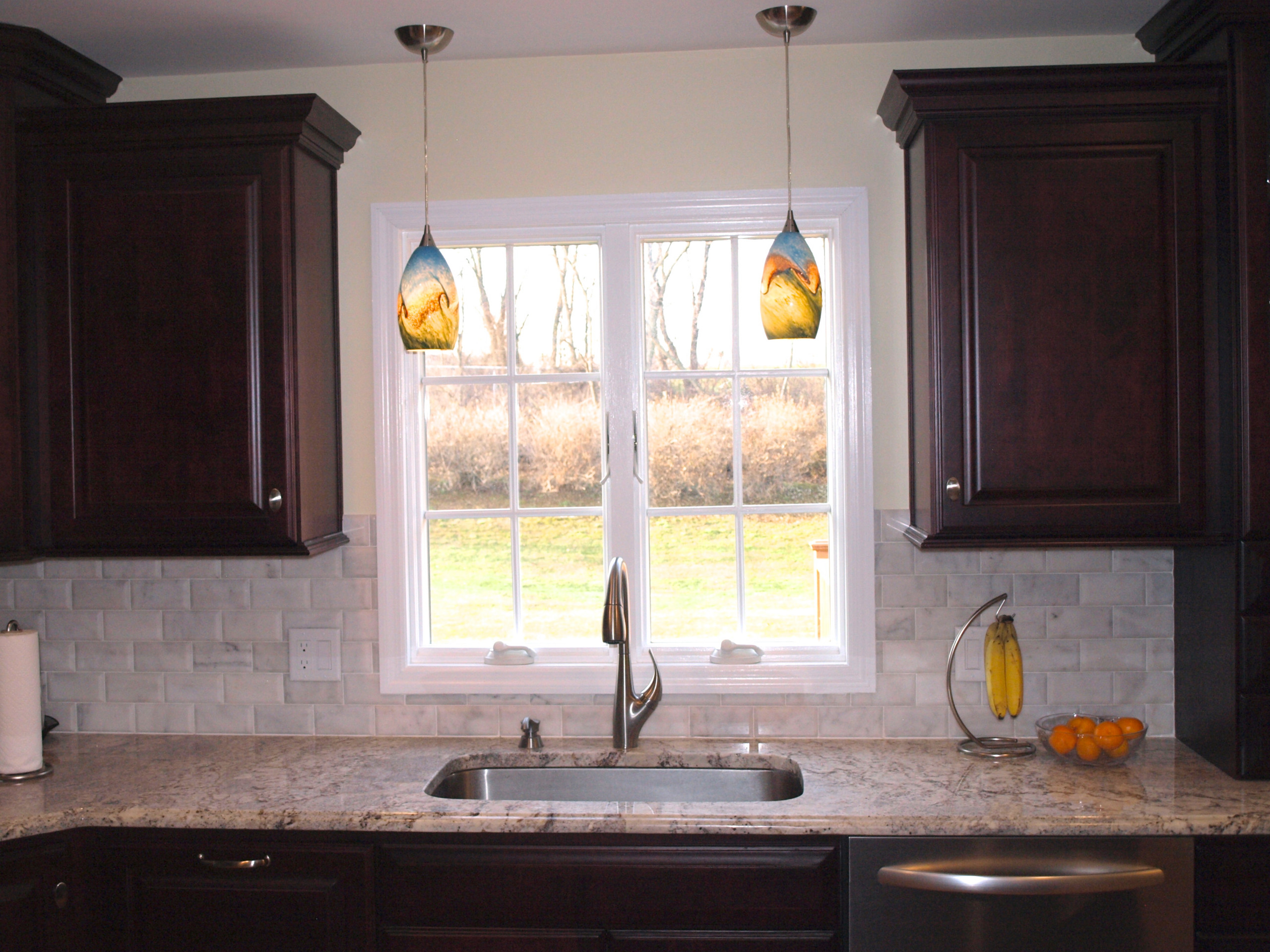 double pendant lights over sink