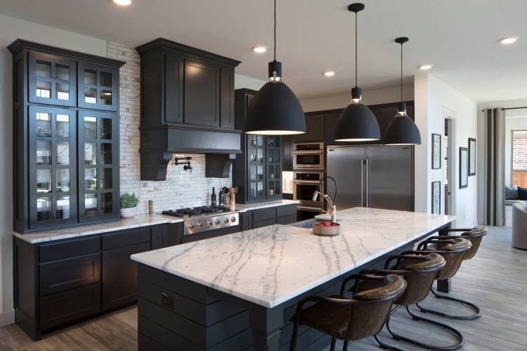 75 Beautiful Kitchen With Black Cabinets Pictures Ideas January 2021 Houzz