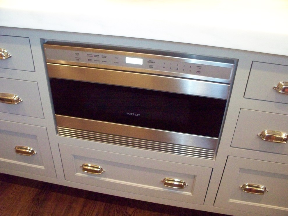 wolf microwave drawer built into island