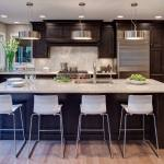 Dark Cabinets Light Granite Houzz
