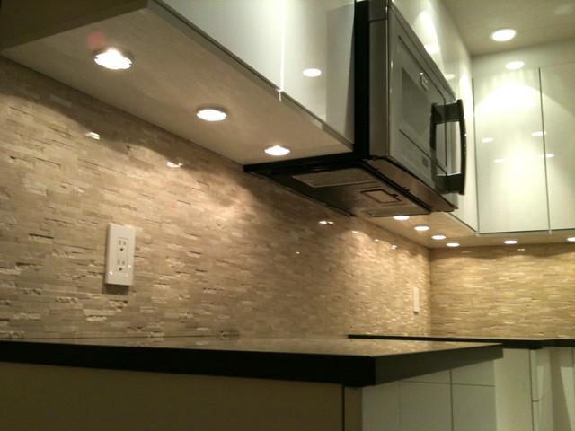 puck lights microwave fan modern
