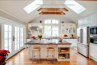 vaulted ceiling lighting ideas and
