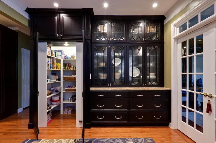 75 Beautiful Kitchen Pantry With Glass Front Cabinets Pictures Ideas January 2021 Houzz