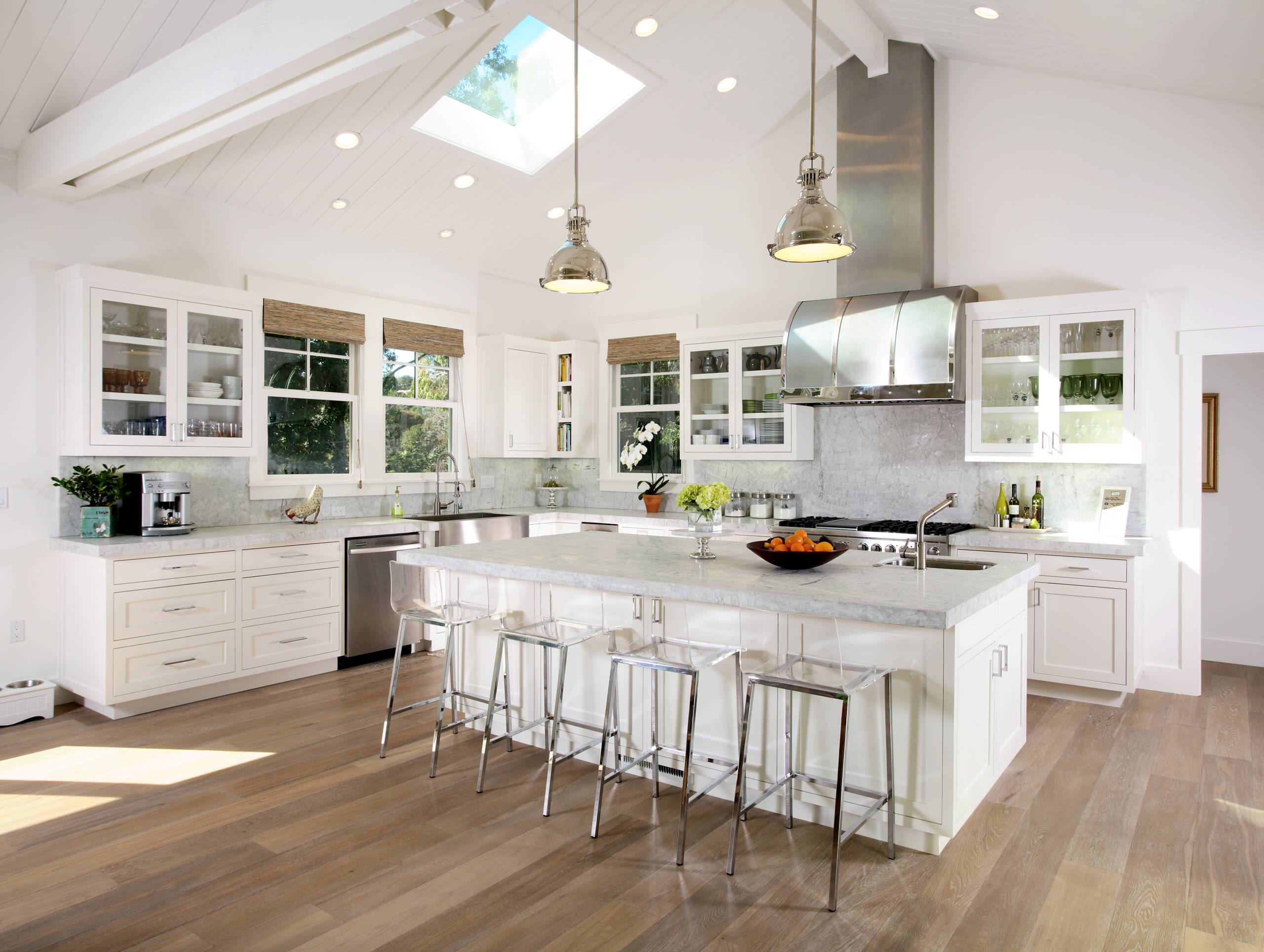 sloped ceiling in a kitchen ideas