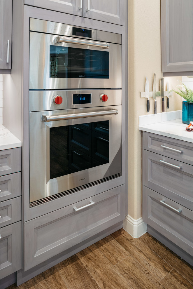 wolf gourmet ovens are flush inset