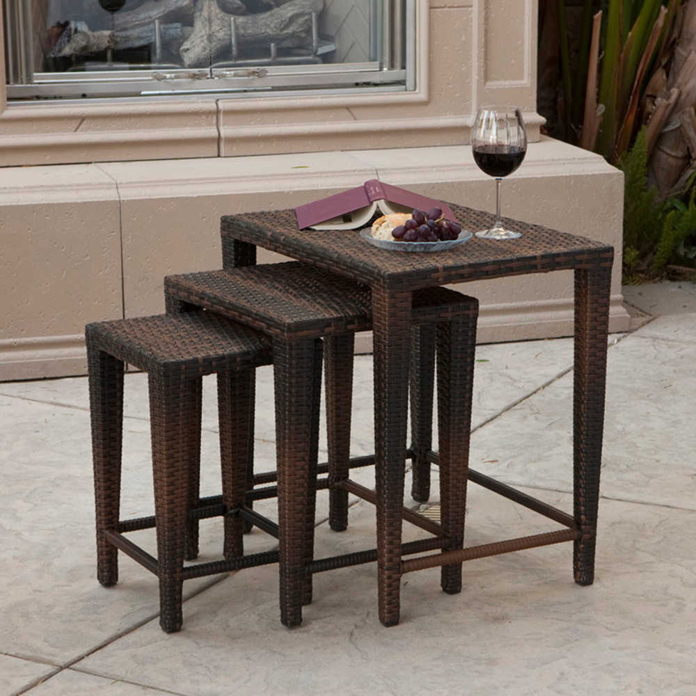 outdoor nesting tables houzz