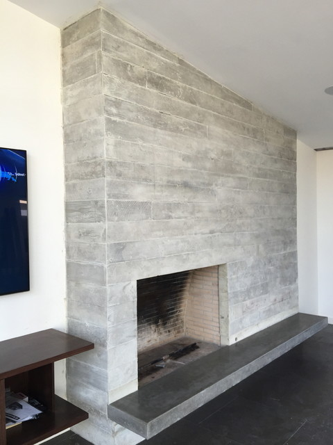 concrete board form veneer tile