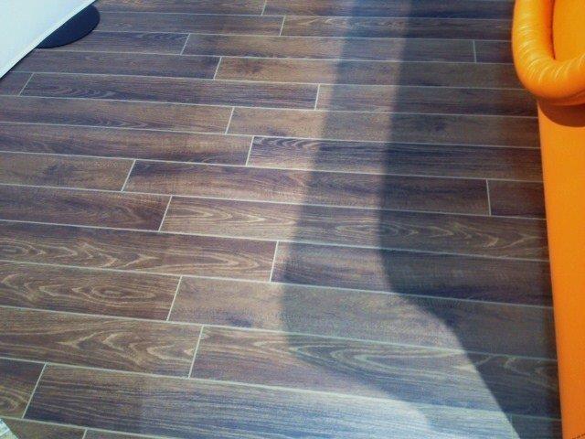 grouted vinyl plank modern living
