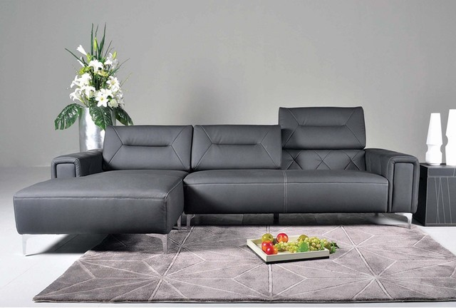 leather sectional sofa with adjustable