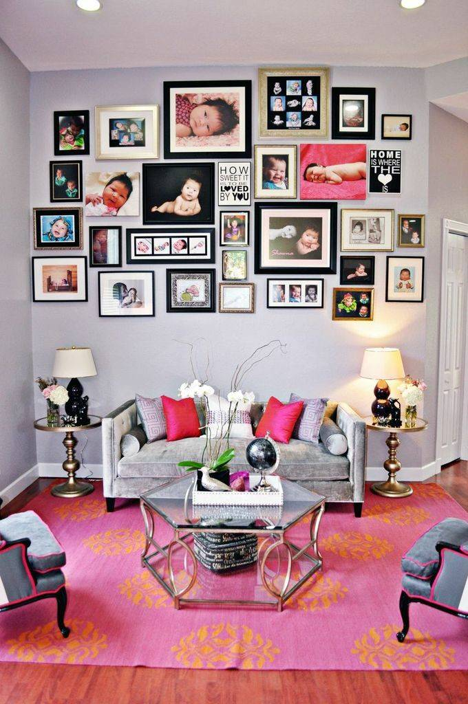 On Trend 75 Pink Living Room Pictures Ideas August 2021 Houzz