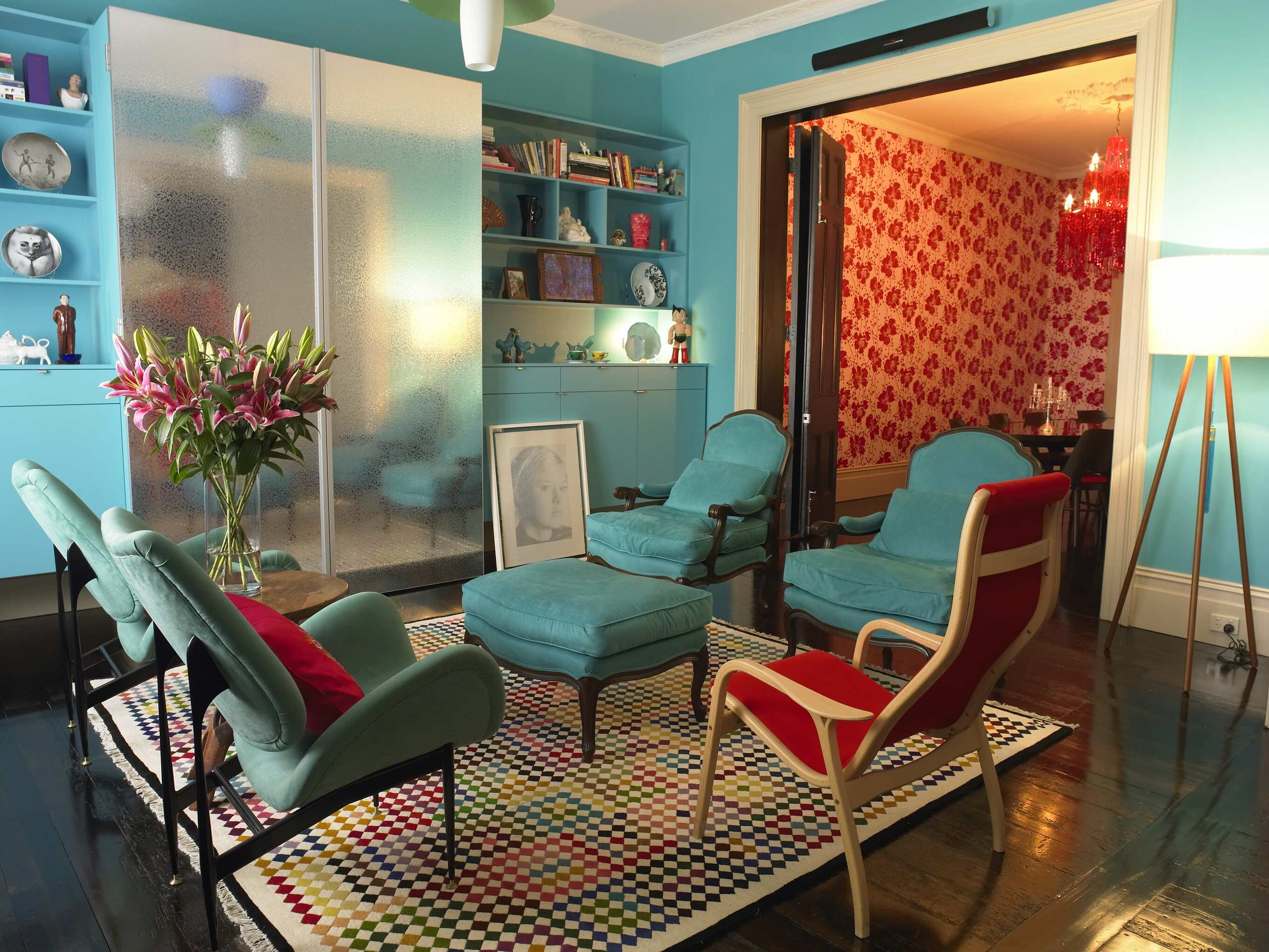 turquoise and brown living room houzz