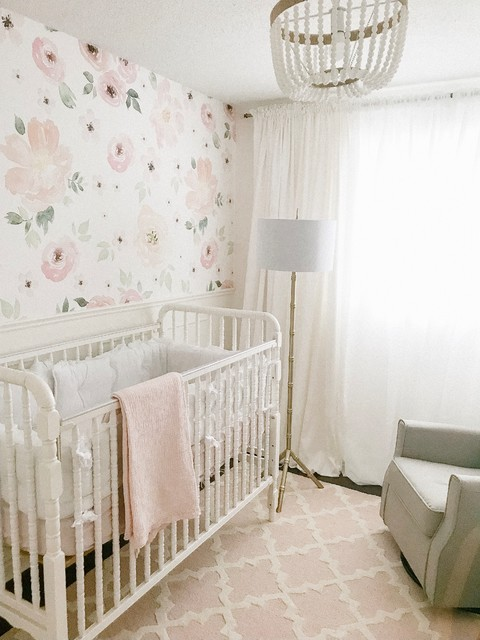 baby girls nursery shabby chic style