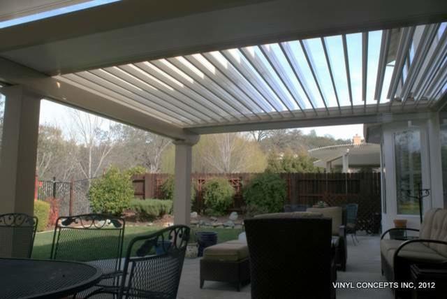 adjustable louver motorized patio