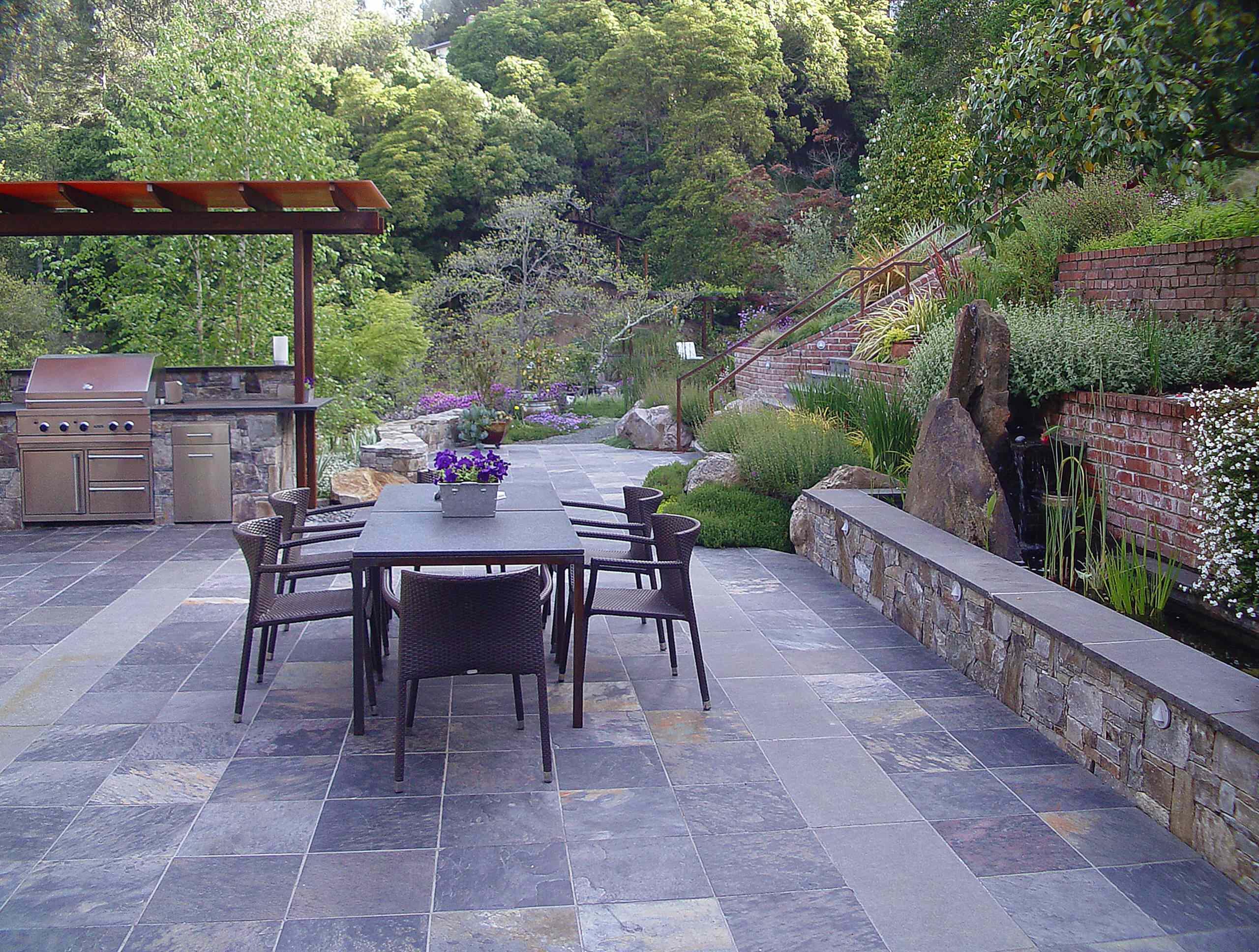 tile contemporary patio ideas houzz
