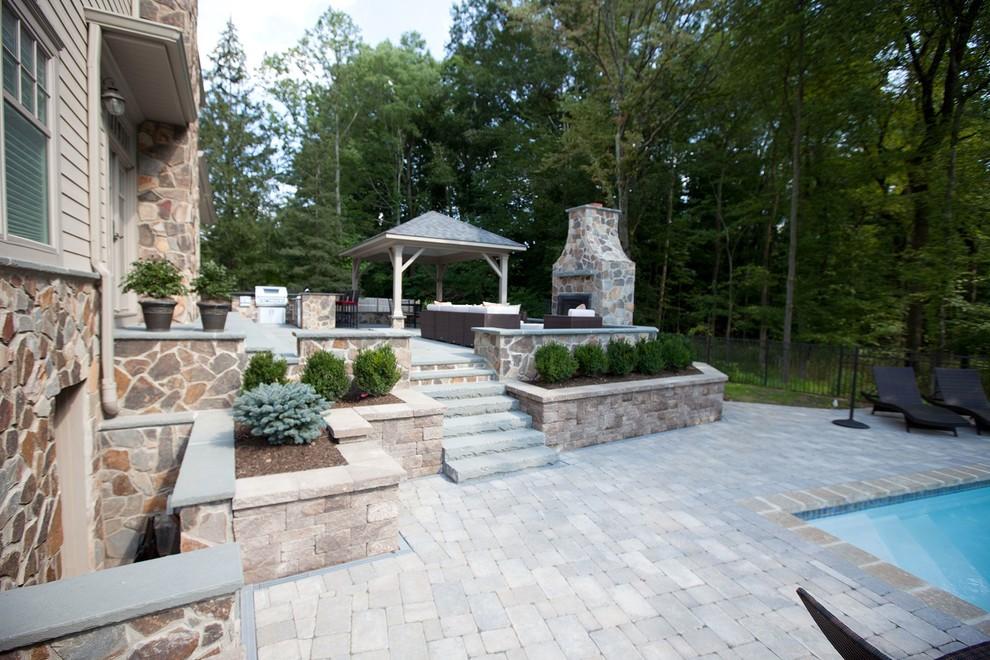 brick paver pool deck outdoor